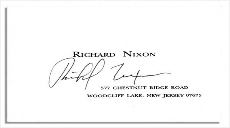 Business-Cards-of-Worlds-Famous-People-richard-nixon